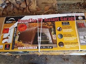 Round Top Instant Garage 12-24-10