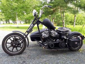 1972 Custom Harley Davidson Shovelhead - hand shift -foot clutch