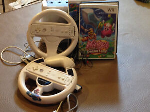 Nintendo wii including 2 remotes and 3 video games!