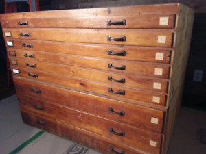Antique Draftsman's Cabinet