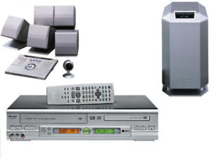 Sharp VCR/DVD COMBO +Dolby Digital Home Theatre