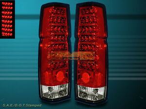 FOR 1986-1997  NISSAN HARDBODY PICKUP / D21 RED CLEAR LED TAIL LIGHTS