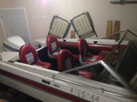 AMF Crestliner boat for sale, new interior 85hp two stroke