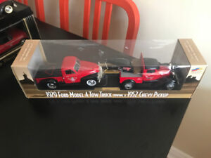 Canadian Tire Die Cast Truck 1929 Ford Model A towing 1952 Chevy