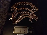 9ct Gold Bracelets, 173 grams