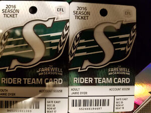 2 tickets Oct 22 riders vs montreal