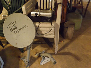 Bell dish and boxes for satellite TV $50.00