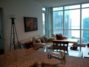 January: Furnished 2 Bedroom + Large Den Downtown next to Union
