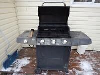 Broilmate Propane BBQ, Black, 3-Burner with Side Burner
