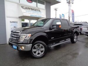 2014 Ford F-150 Lariat Crew 4x4, 3.5 Eco, Nav, Sunroof, Max Tow