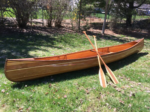"Huron Cruiser 15'9"" newly hand crafted cedar strip canoe"