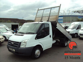2011 FORD TRANSIT 2.4TDCi 6 SPEED 100PS T350M DIESEL WHITE TIPPER