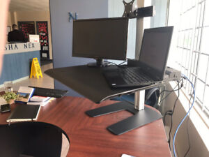 Work Healthy Sit and Stand Height Adjustable desk top unit
