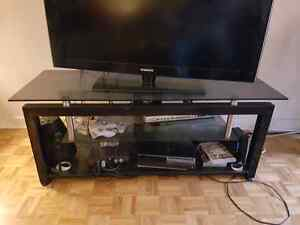 Glass and black tv stand $80 OBO