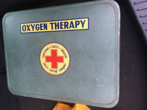Vintage Oxygen Therapy Suitcase from the Vancouver Ship Yards