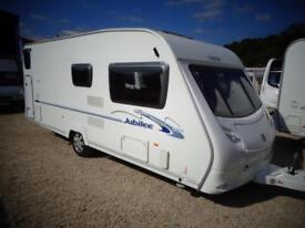 ACE Jubilee Courier 2007 6 Berth Fixed Bunks Single Axle Touring Caravan