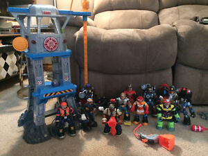 HUGE Rescue Heroes Lot - with vehicles