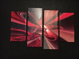 Decorative 4 panel canvas