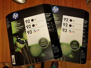 Hp 92 and 93 ink, 6 cartridges, two boxes