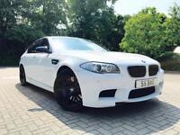 "2012 12 Reg BMW M5 4.4 Saloon + WHITE + HUGE SPEC + STUNNING + 20"" ALLOYS +"
