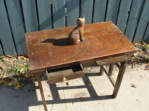 antique office side/typewriter table
