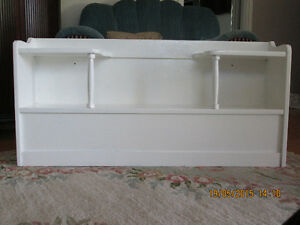 White Wood Headboard/Bookcase