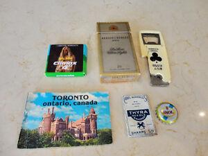 Vintage Mini Book, Thread Needle, Condom, Cigs, Opener, Cap