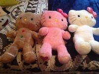 Three hello kitty build a bears