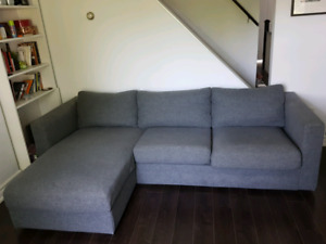 Modular fabric Ikea couch