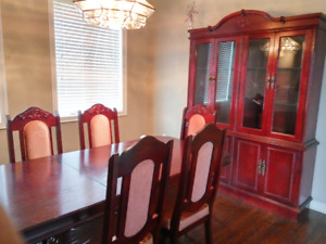 Dinning Table set with hutch and buffet