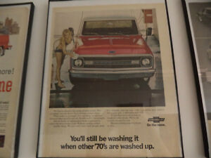 OLD CLASSIC CAR ford & chev PICKUP ADS Windsor Region Ontario image 1