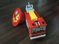 Fireman Sam car with steer control and emergency ambulance