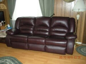 Leather Couch with Recliner at each end...7 ' long