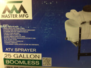 25 gallon boomless  sprayer,  New in box