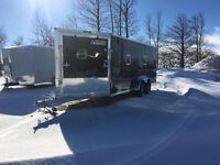 7x23 Drive in and out Snowmobile Trailer