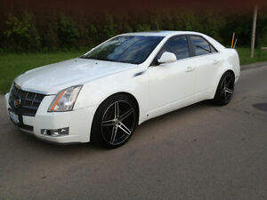 """2008 Cadillac CTS White with 20"""" Rims"""