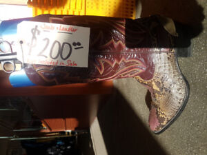 Cowboy Boots....real snake leather!!!