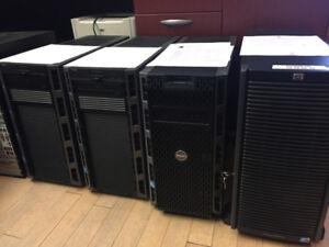 serveurs HP et Dell usagés