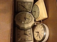 Collection of rare vintage kitchen electric clocks