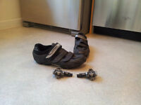 shimano clipless shoes size 44 with clipless pedals