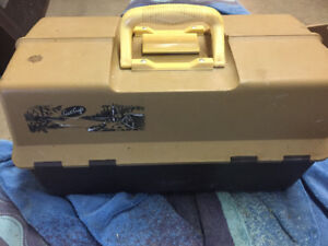 Tackle boxes with fishing lures