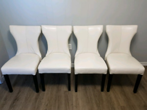 4 White Dining Chair