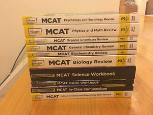 BRAND NEW - The Princeton Review MCAT Books - 2017 TPR course
