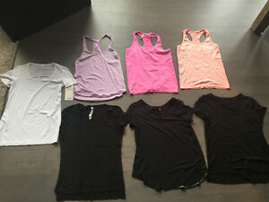 Lululemon size 8 tops - 9 different tops $40 each