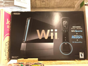 Boxed black Wii