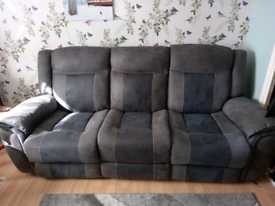 3 seater recliner sofa and recliner chair, only 2 years old