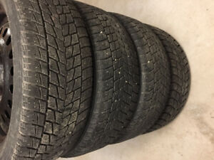 Winter Tires with steel rims 235-55 R18