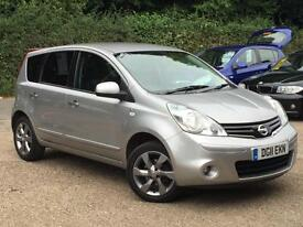 2011 Nissan Note 1.4 16v N-TEC Silver only 69,742 Miles SUPERB THROUGHOUT!!!!