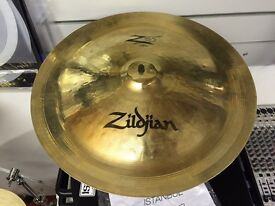 Various cymbals, crash, ride, hi hats, splash, china