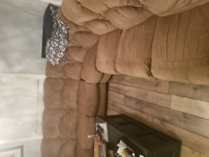 Luxary high end old theater style sectional couch .